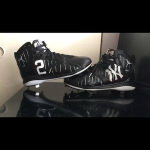 Custom baseball cleats (Derek jeter yankee)